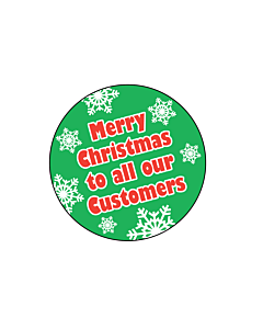 Merry Christmas Stickers 38mm