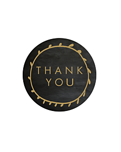 Chalk Effect Thank You Stickers 40mm