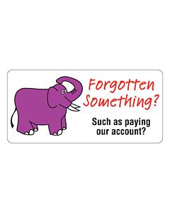 Forgotten Something? Label 75x35mm