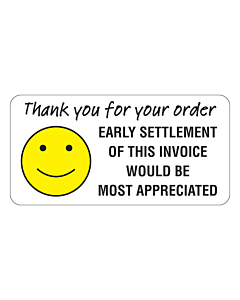 Thank You For Your Order Stickers 50x25mm