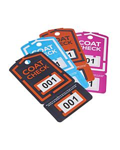 Coat Check Cloakroom Tickets