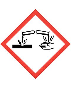 GHS & CLP Corrosive Labels