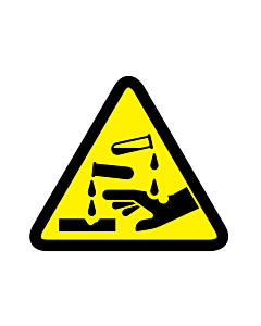Corrosive Substance Warning Labels