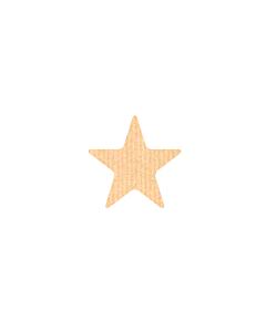 Kraft Star Shaped Stickers 10mm