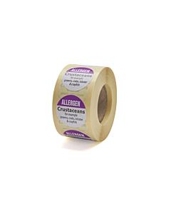 Allergen Crustaceans Labels 25mm Permanent