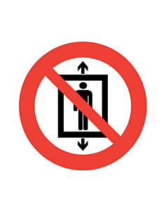 Do Not Use This Lift For People Labels