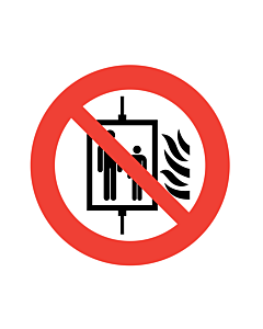 Do Not Use Lift In The Event of a Fire Labels