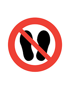 Do Not Walk or Stand Here Labels