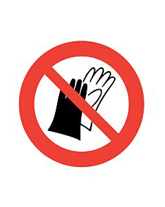 Do Not Wear Gloves Labels
