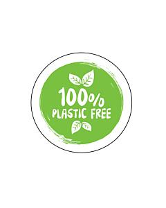 100% Plastic Free Stickers