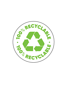 100% Recyclable Labels