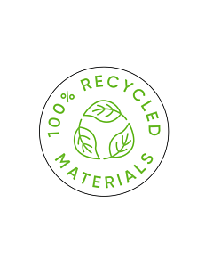 100% Recycled Materials Labels