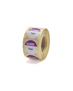 Allergen Eggs Labels 25mm Permanent