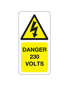 230 Volts Labels 25x50mm
