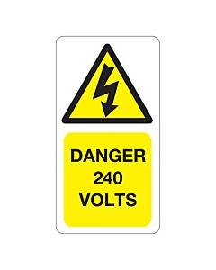 240 Volts Labels 33x63mm