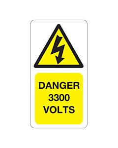 3300 Volts Labels 33x63mm