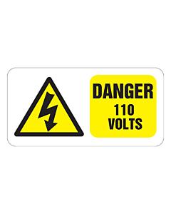 Danger 110 Volts Labels 100x50mm