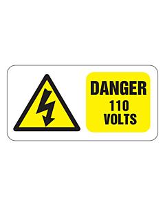 Danger 110 Volts Labels 50x25mm