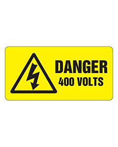 Danger 400 Volts Labels 50x25mm