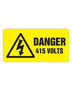 Danger 415 Volts Labels 100x50mm
