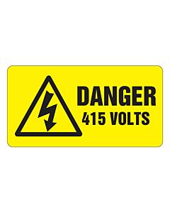 Danger 415 Volts Labels 63x33mm