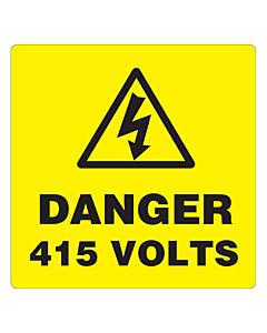Danger 415 Volts Labels 100x100mm