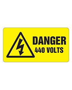 Danger 440 Volts Labels 63x33mm
