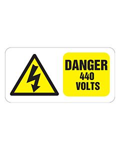 Danger 440 Volts Labels 100x50mm