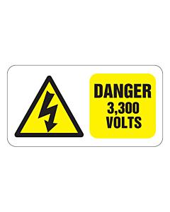 Danger 3300 Volts Labels 63x33mm