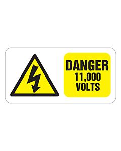 Danger 11000 Volts Labels 100x50mm