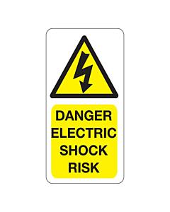 Danger Electric Shock Risk Labels