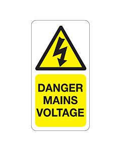 Danger Mains Voltage Labels