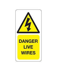 Danger Live Wires Labels