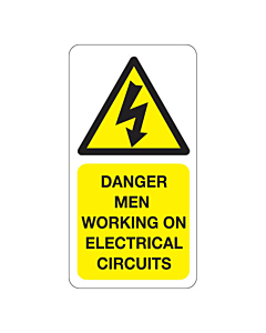Danger Men Working on Electrical Circuits Labels
