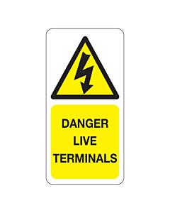 Danger Live Terminals Labels