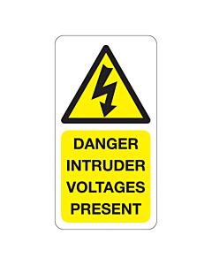Danger Intruder Voltages Present Labels