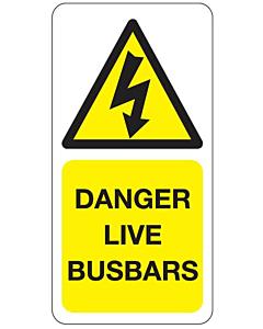 Danger Live Busbars Labels
