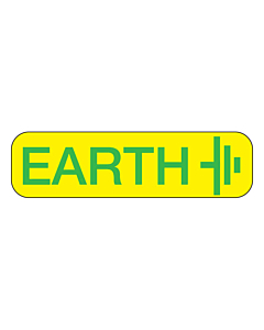 Electrical Earth Label 35x10mm