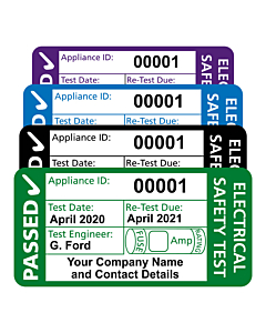 Personalised 3rd Edition PAT Test Labels 50x25mm