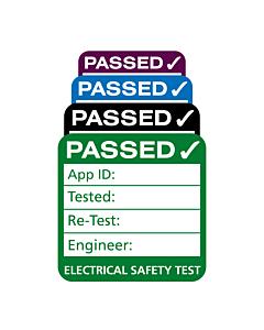 3rd Edition Plug Top PAT Test Labels 25x25mm
