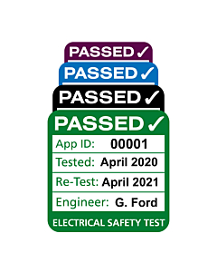 Personalised 3rd Edition Plug Top PAT Test Labels
