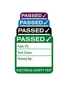 4th Edition Plug Top PAT Test Labels 25x25mm