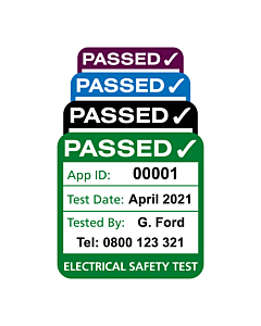 Personalised 4th Edition Plug Top PAT Test Labels