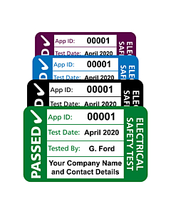 Personalised 4th Edition PAT Test Labels 40x25mm