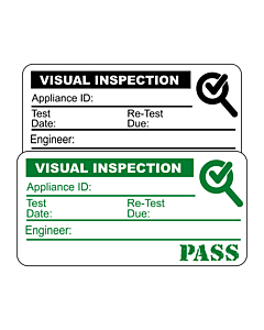 Visual Inspection Labels 50x25mm