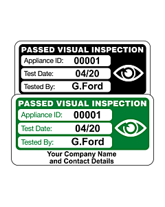 Personalised 4th Edition Visual Inspection Labels 50x25mm
