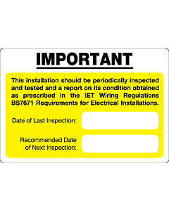 Periodic Inspection Labels 95x65mm