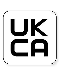 UKCA Labels 20x20mm