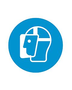 Wear a Face Shield Labels