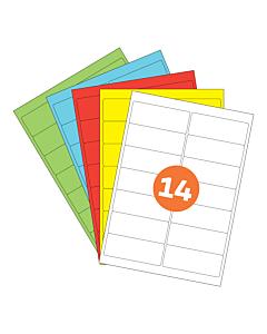 A4 Label Sheets 14 Labels Per Sheet 99x38mm